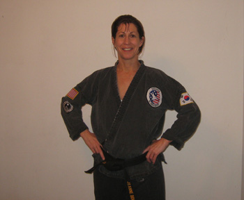 Jeanne M. Donnelly, owner of Makoto-do,  4th Dan Black Belt